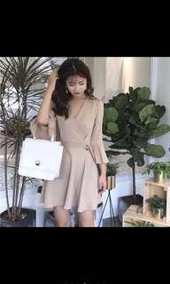 Ready Stock speaker sleeve koreanstyle shift dress