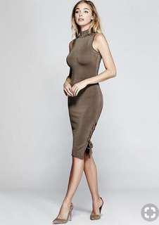 Marciano brown bodycon dress, size S