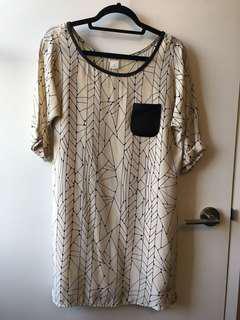 Club Monaco silk dress - 0