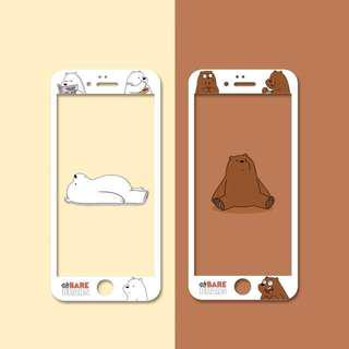 We Bare bears tempered glass screen protector
