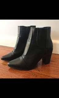 Black booties 8