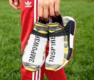 Instock US7-11 Adidas NMD X Pharrell Williams Afro Solar HU Black Red