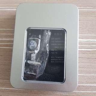 Volkswagen Keychain Holder (Chrome + Leather)
