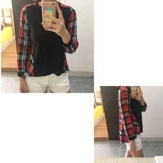 Black Checkered Shirt