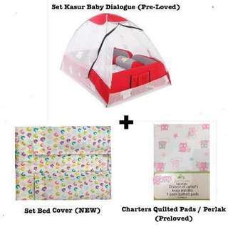 Paket Tempat Tidur Bayi Lengkap (LIKE NEW)