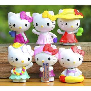 Hello Kitty Figures Set of 6
