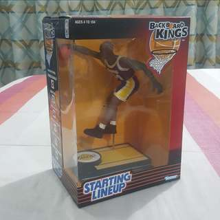 "Legit Brand New With Box NBA Kenner Starting Lineup Backboard Kings 6"" Shaquille O'Neal Los Angeles Lakers Toy Figure"