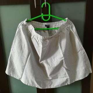 Gap Polka Dots White Skirt (M)