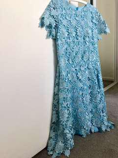 Baby blue lace dress (knee length)