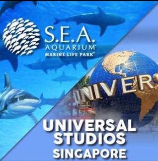 IMMED ISSUE :Universal Studio Sentosa Singapore USS 2. S.E.A Aquarium 海洋馆 ( SEA ) Sentosa Physical ticket e Tickets etickets  3. Adventure Cove Waterpark attraction eticket at sentosa water park Open dated