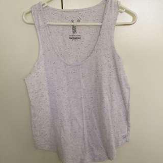 White speckled tank