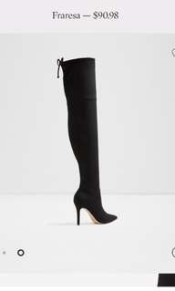 Thigh high suede boots aldo