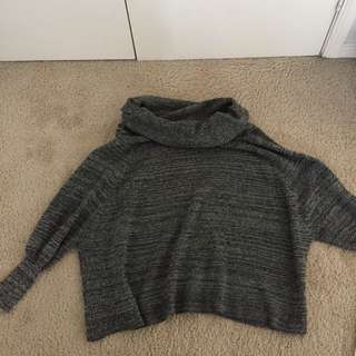 Grey turtle neck knit