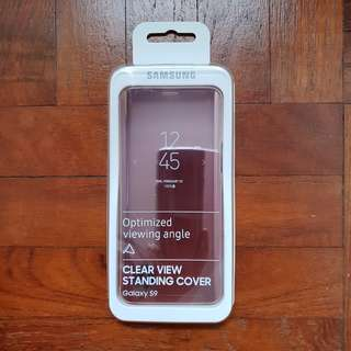BNIP Samsung Galaxy S9 Clear View Standing Cover