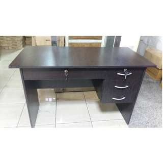 Office Table 3 drawers and Front Drawer with lock ( wenge )