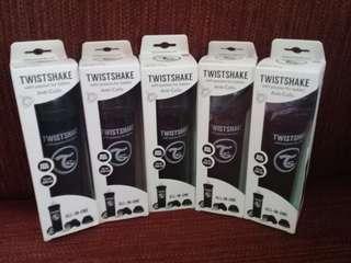 All BLACK 11oz/330ml Twistshake Anti-colic Baby Bottle