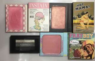 The balm blush highlighter MAC eyeshadow thembalm