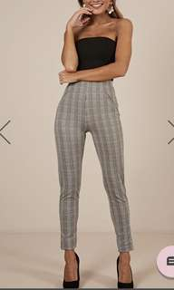 Business check pants