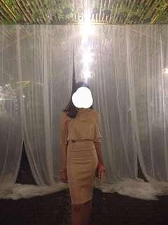 Pinkish Nude Semi-Formal Tube Dress