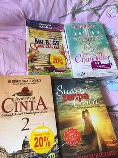 Novel Melayu (in plastic)