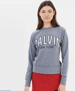 Calvin Klein flocked logo sweatshirt rrp$129.95 with tags