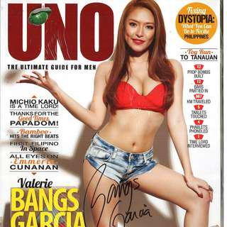 Autographed UNO Philippines # 91 Vol. XI - Bangs Garcia - w/ Signed Poster
