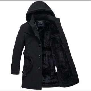 韓版質感內刷毛大衣