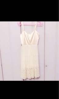Champagne cream lace dress