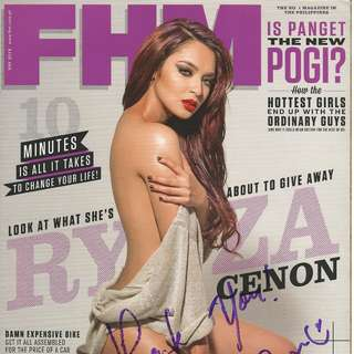 Autographed FHM Philippines May 2013 - Ryza Cenon (3 Signatures)