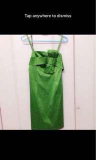 Green Bow Dress