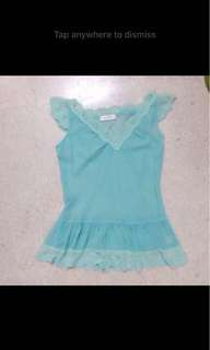 Somerset bay lace mint top