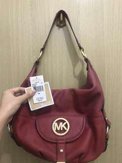 Michael Kors red leather bag