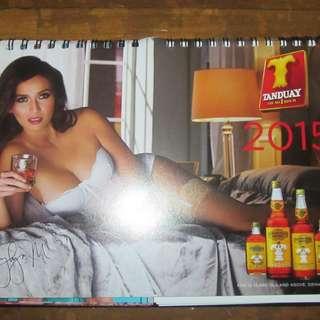 Tanduay Rhum 2015 Desk Calendar Featuring Jennylyn Mercado