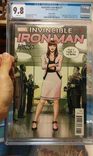 Invincible Iron Man 7 Variant CGC 9.8