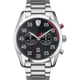 🚚 [F1] Ferrari 0830176 D50 Men's  Analog Display Quartz Silver Watch