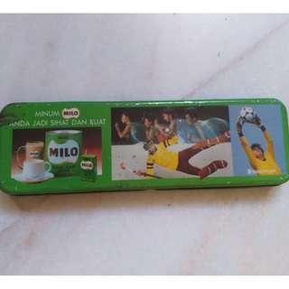Vintage Last Unit Milo Tin Tonic Food Drink Pencil Box