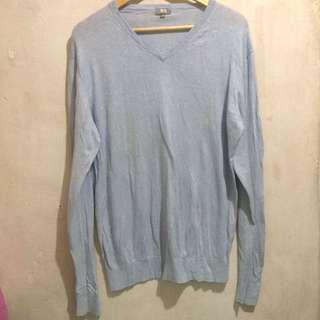 Uniqlo baby blue sweatshirt