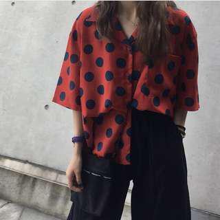 Big polka shirt