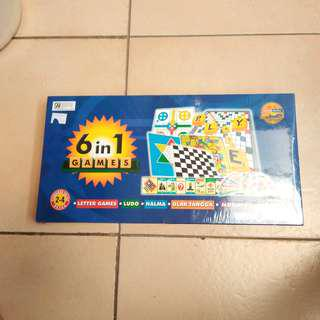 6 in 1 board game