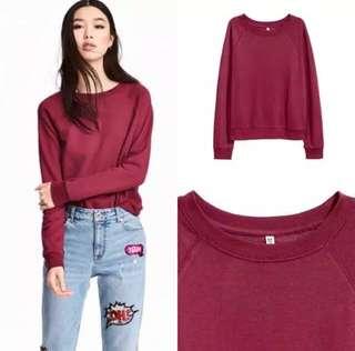 SALE! h&m maroon sweatshirt