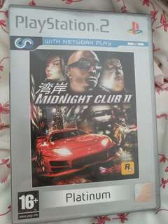 Used midnight club 2 platinum PS2 edition playstation game