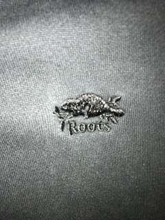 black roots zip up hoodie / sweater