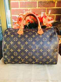 Authentic Vintage Louis Vuitton Speedy 30 Monogram Leather
