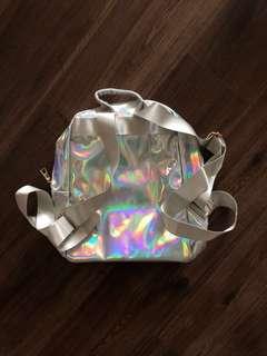 Holographic Mini Backpack Bag