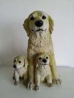 Golden Retriever Polyresin Dog Figurine