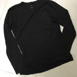Sifr Pima Cotton Black Long Sleeve