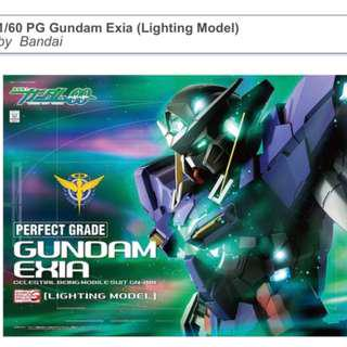 Bandai Perfect Grade Exia Lighting Model