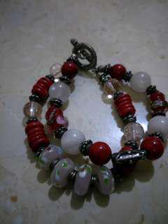 Bracelet with semi precious stones