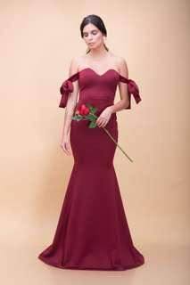 DAMAGED GOWN selling low zoo medium maroon
