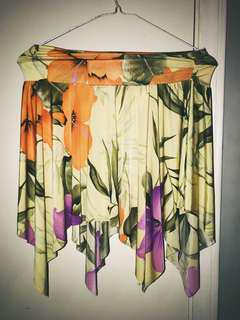 Tropical costa blanca skirt